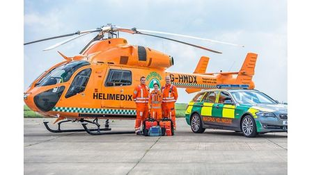 Magpas fly to scene of serious collision at Chatteris on Sunday