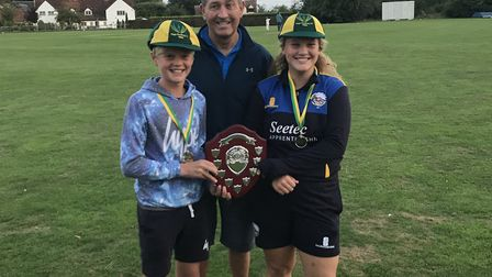 Graham Gooch presented awards to High Roding's Guy Morley-Jaocb and Bella Howarth, who were named co