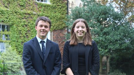 Felix Hawes and Maria Campbell are the new heads of school at King's Ely.