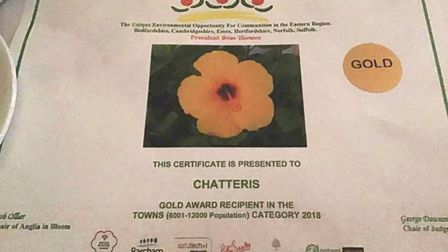 Anglia in Bloom winner Chatteris. Gold it is PHOTO: Courtesy of Chatteris in Bloom