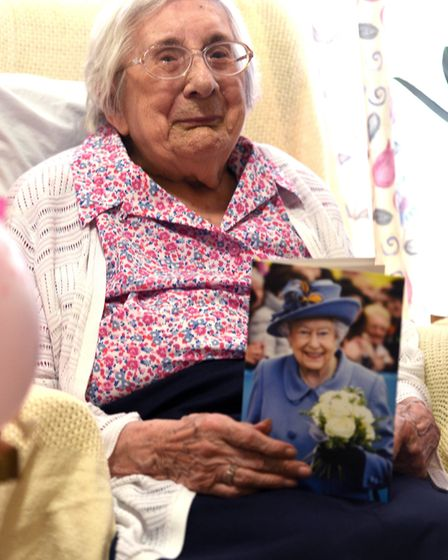 Lucy Collins celebrates her 100th birthday. PHOTO: Ian Carter