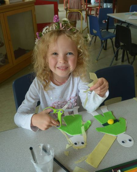 Children enjoyed an afternoon of willow weaving activities at a workshop held at the Prickwillow Dra