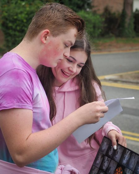 """Helena Romanes pupil Aaron Cox was """"ecstatic"""" with his results. Picture: CELIA BARTLETT PHOTOGRAPHY"""