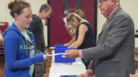 Results envelopes are handed out to the students at Helena Romanes School. Picture: CELIA BARTLETT P