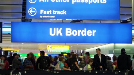 File photo dated 22/07/15 of passengers going through the UK Border at Terminal 2 of Heathrow Airpor