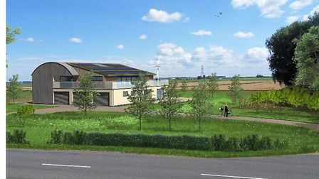 This was the proposed sketch of an eco home by the riverside at Littleport that councillors did not