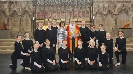The Lantern Dance Theatre Company took the spotlight at Ely Cathedral's Lady Chapel. Photo: Mike Rou