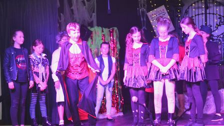 A representative from NODA also visited to review their latest production of The Dracula Rock Show h