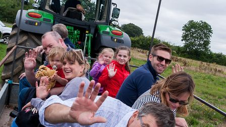 Families enjoyed the tractor rides. Picture: SAFFRON PHOTO