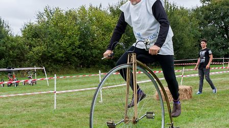 How to ride a penny farthing. Picture: SAFFRON PHOTO