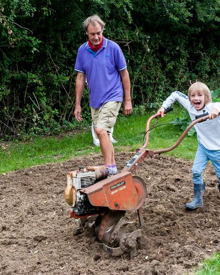Children were allowed to try out the machinery. Picture: SAFFRON PHOTO