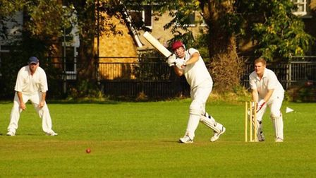 Ben Cross at the crease during City of Ely's victory against Isleham. Picture: SIMON CROSS