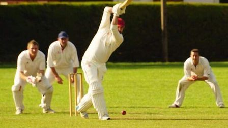 Ed Aniskowicz batting as City of Ely beat Isleham in Division Three of the Cambs Senior League. Pict