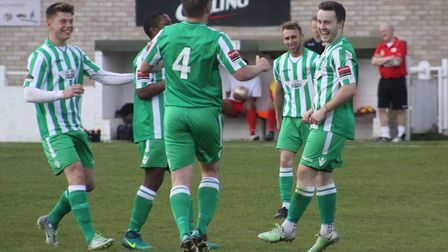 Sam Mulready (right) inspired a staggering Soham Town Rangers fightback last Saturday. Picture: ANDY
