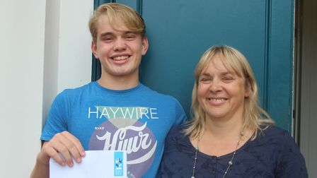 Hard work pays off for GCSE students at King's Ely Senior. Picture: JORDAN DAY.