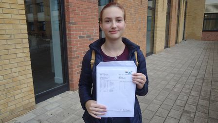 Anna Ivaskevica achieved six 9s in biology, chemistry, history, maths, physics and English literatur