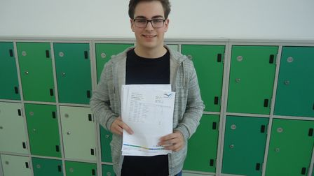 Ben Carr achieved three 8s in biology, chemistry and physics, four 7s and an A in ICT.