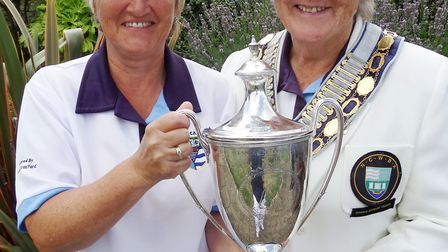Jane Clifton (CMB) and North Cambs EWBF President Betty Reeve. Photo: Submitted