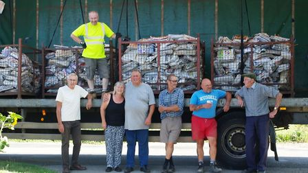 Along with his wife Rita, Arthur, he has collected around ten tonnes of papers a year to recycle for