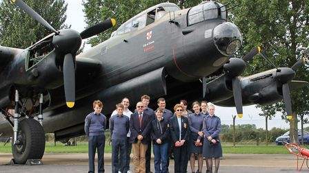 """The cadets got """"up close and personal"""" with some of the RAF's most treasured historical aircraft. Ph"""