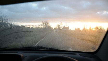 A view through the windscreen of Hayley Sterna's car. Picture: CONTRIBUTED