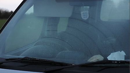 The windscreen of the vehicle which hit Mr Clements. Picture: CONTRIBUTED