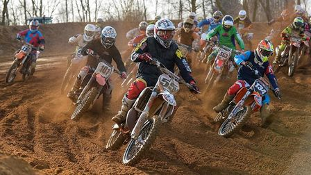 Riders in action at Mepal Motorcross track in 2016.