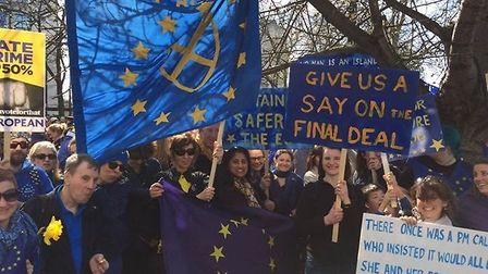 Brexit protest march in London earlier this year