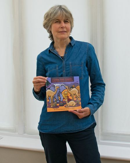 Katrina Wilkie of Prickwillow (pictured) has self-published her first childrens book 'Clara The Came