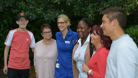 The five Papworth Hospital patients who were reunited with the surgeons who saved their lives in a r