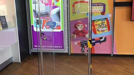 The Argos store at Meadowland in March has been broken into and watches and other jewellery stolen.