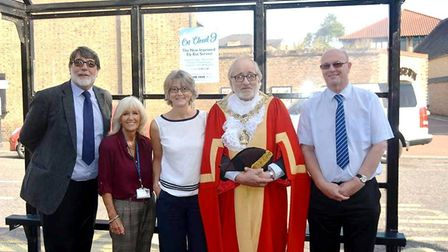 Ely mayor Cllr Mike Rouse helps to launch a new city bus route