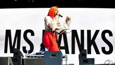 Ms Banks impressed on the main stage at Sundown on Sunday. Photo: Harry Rutter