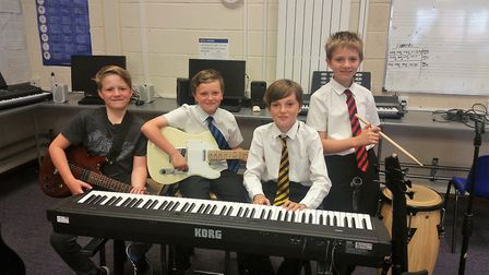 The Year 7 students selected for the Ely College music project. Picture: Ely College