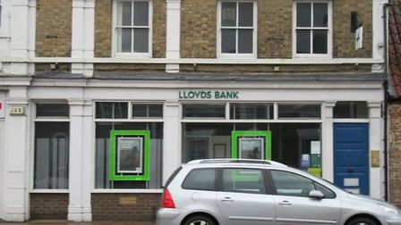 Lloyds Bank, Chatteris, is due to close.