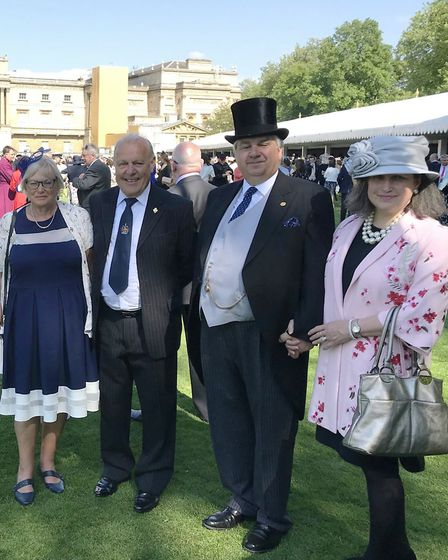 Roy and Liz attended The Buckingham Palace Garden party in May In recognition of 20 years of charity