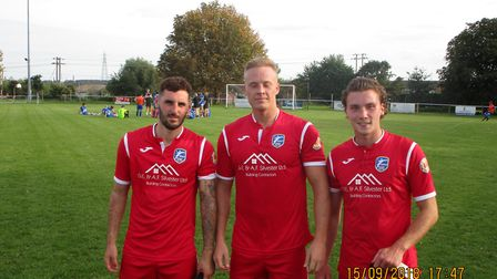 Takeley's Charlie Cole, Stuart Zanone and George Pullen