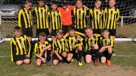 Soham United. Some of the youth players.