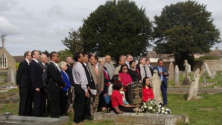 Members of the Baptist Church of Mizoram, in India, attended a gravestone unveiling for Frederick Sa