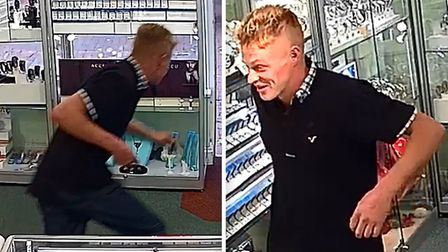 It took a man just 30 seconds to rob an Ely jewellery store of a 3,000 ring on Friday, September 14