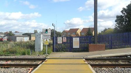 Barrow crossing at Littleport Station which connects the two platforms. PHOTO: Archant Library