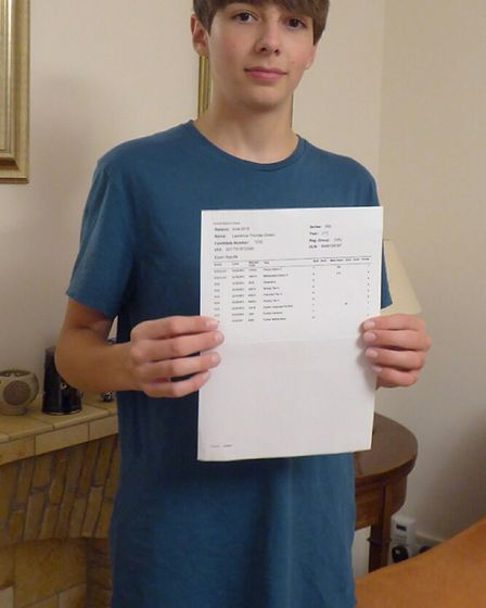 Lawrence Green achieved all As and A* grades in his GCSEs. He got three grade 7s and five grade 9s a