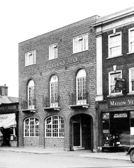 A nostalgic view of Broad Street, March, a Conservation area.