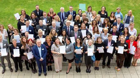 Representatives from all the Accredited Best Employers Eastern Region 2018 organisations with Alex P