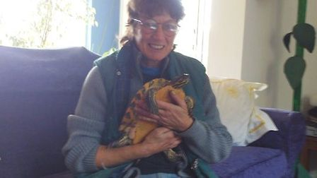 Annie Kristiansen (pictured) is on the hunt for her pet terrapin after she went missing around five
