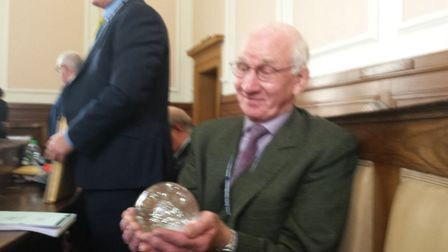 Cllr Terry Rogers and his crystal ball. Picture: JOSH THOMAS