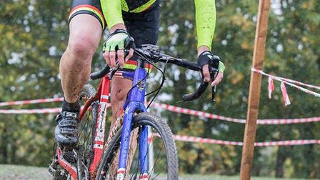 Martin Holland riding in the muddy conditions. Picture: JUDITH PARRY