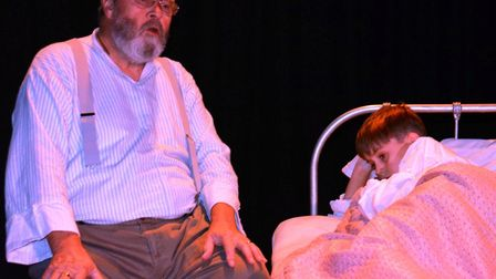 The cast of Viva's Goodnight Mister Tom on stage. The show is being performed until Saturday (Octobe