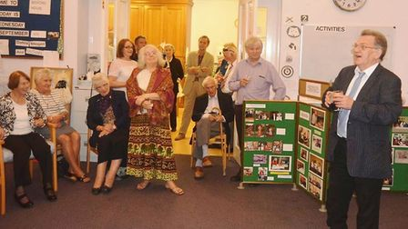 Celebrations at Fenprobe, the talking newspaper, in Ely on their 40th anniversary. PHOTO: Mike Rouse
