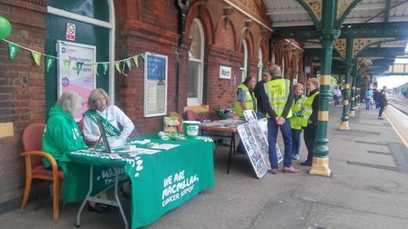 Funds raised for March rail station renovations during Heritage Open Days weekend. Photo: Submitted